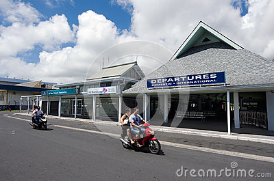 Rarotonga International Airport - Cook Islands Editorial Image