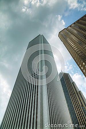 Rascacielos en la Chicago céntrica, Illinois