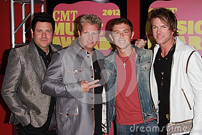 Rascal Flatts and Scotty McCreery at the 2012 CMT Music Awards, Bridgestone Arena, Nashville, TN 06-06-12 Editorial Photography