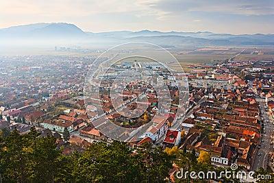 Rasnov town in Romania