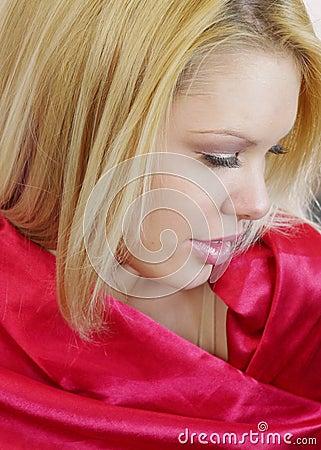 Raso rosso delicato