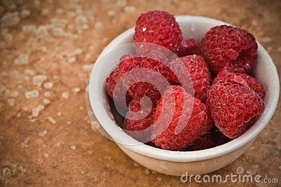 Raspberries In A Bowl Stock Image - Image: 8302491