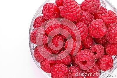 Raspberries in glass bowl (2)