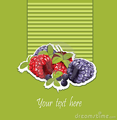 Raspberry and blackberry card