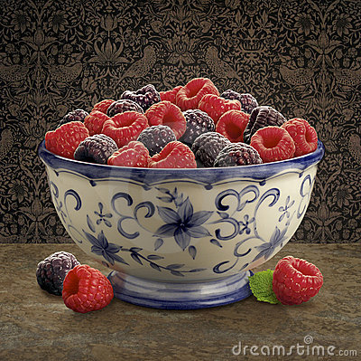 Free Raspberry Bowl Royalty Free Stock Photography - 1755837