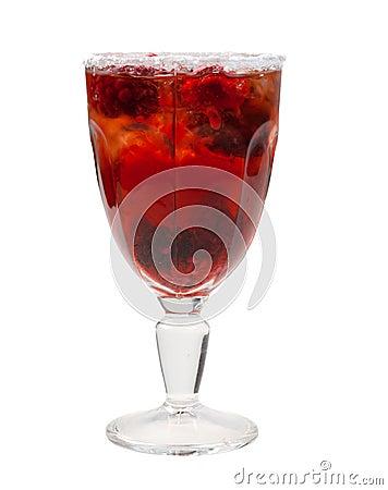 Raspberry cocktail  closeup