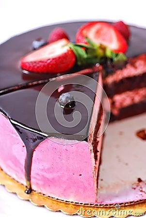 Raspberry Creme Chocolate Cake