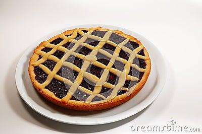 Raspberry Crostata - Italian tart