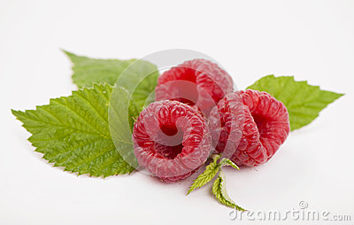 Raspberry fruit closeup