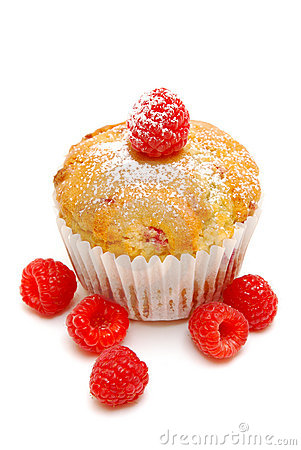 Raspberry Muffin Isolated Stock Photos - Image: 14113253