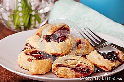 Raspberry Pastries Freshly Baked