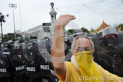 Rassemblement anti-gouvernement à Bangkok Photo éditorial