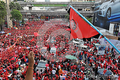 Rassemblement de Rouge-Chemise de Bangkok Photo stock éditorial