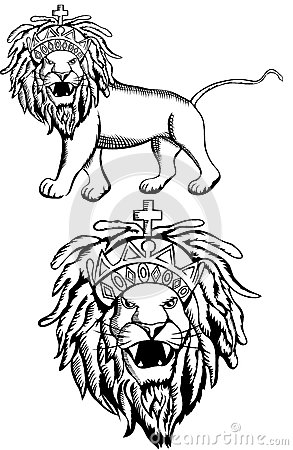 Rasta Lion With Dreads Rasta lion of judah stock