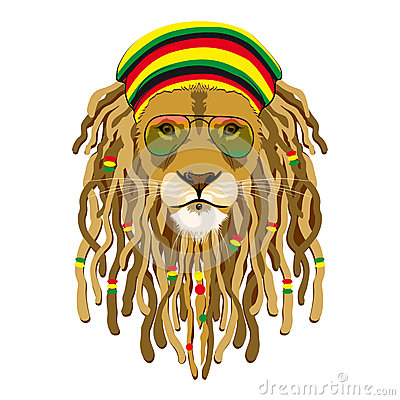 Rasta Lion With Dreads Rasta-lion-vector-illustration ...