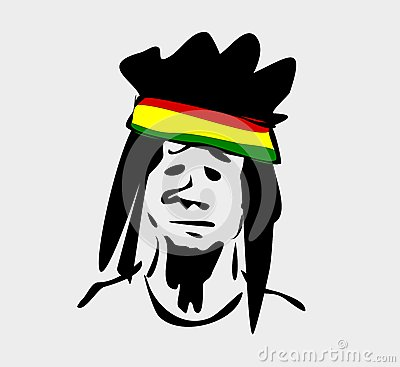 Rastafarian with dreadlocks