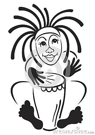 Rastafarian drummer