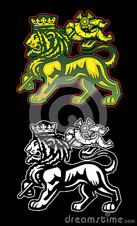 Rasta Lion With Dreads Rastafarian lion of judah
