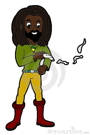 Rastaman smoking joint