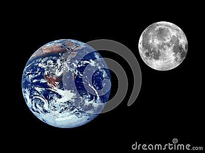 Raster earth illustration