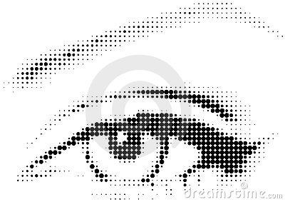 Raster eye with dots