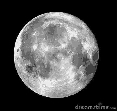 Raster Moon Illustration Royalty Free Stock Images - Image: 7608899