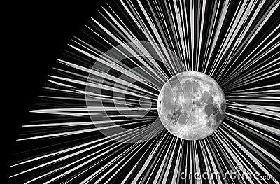 Raster moon illustration