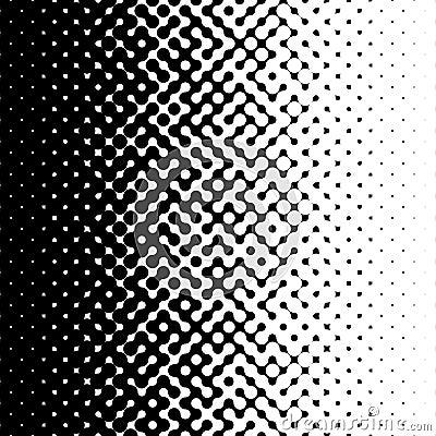 Raster Seamless Black and White Truchet Halftone Gradient Pattern Stock Photo