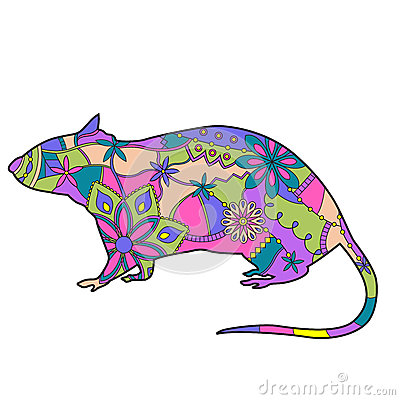 Rat colorful