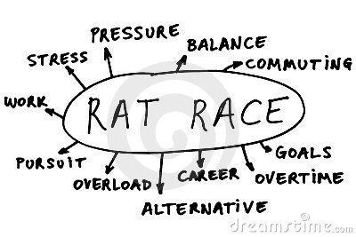 Rat race abstract