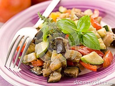 Ratatouille on dish