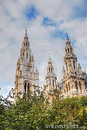 Rathaus (City hall) in Vienna, Austria