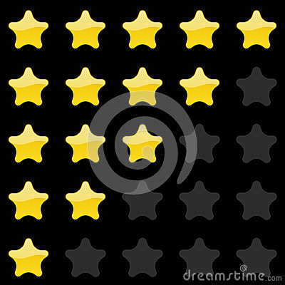 Rating stars panel. Customer review, vote navigation bar. Vector satisfaction level symbol Vector Illustration