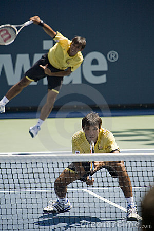 Ratiwatanas at the Los Angeles Open Tennis Tournam Editorial Photo