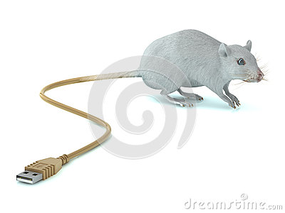 Rato com cauda do USB