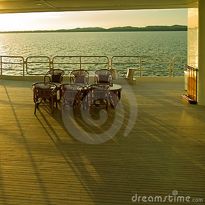 Rattan Chairs on Ship Deck