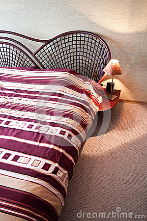Free Rattan Double Bed Royalty Free Stock Image - 37963566