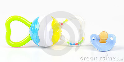 Rattle toy and pacifier