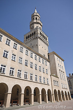 Ratusz Tower in Opole Poland