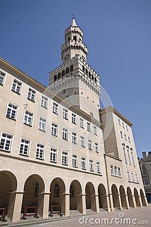 Ratusz Tower in Opole Poland