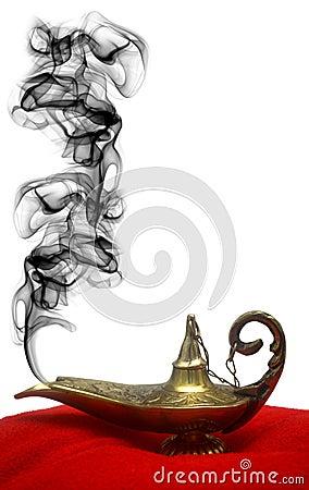 Rauchende Geist-Lampe