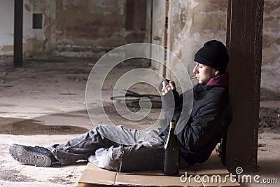Rauchender Alkoholiker