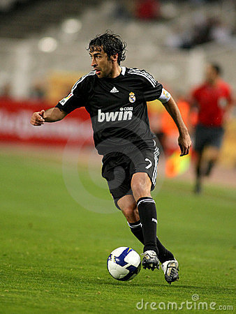 Raul Gonzalez of Real Madrid Editorial Stock Photo