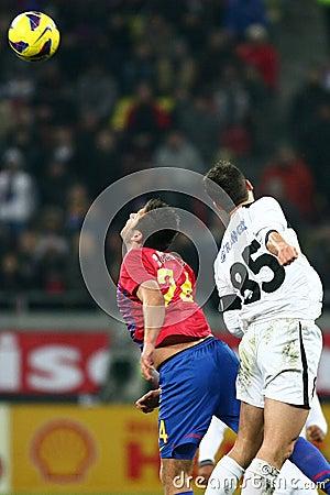 FC Steaua Bucharest- FC Gaz Metan Medias Editorial Image