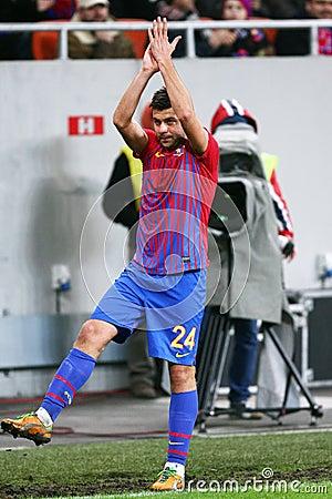 FC Steaua Bucharest- FC Gaz Metan Medias Editorial Photography