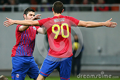 FC Steaua Bucharest- FC Gaz Metan Medias Editorial Stock Image