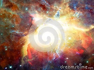 Raum-Nebelfleck