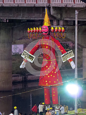 Ravana Effigy Editorial Stock Photo