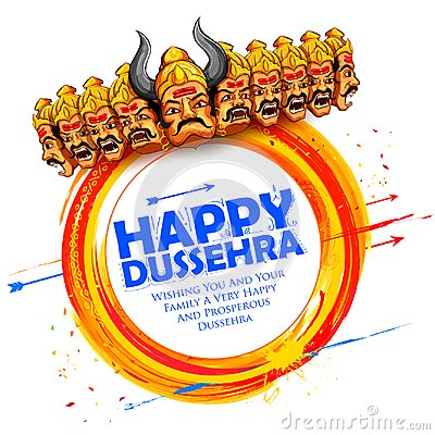 Free Ravana With Ten Heads For Dussehra Stock Images - 100177024