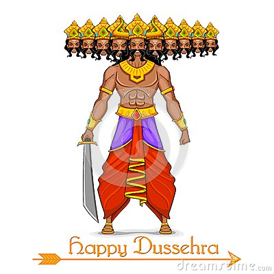 Free Ravana With Ten Heads For Dussehra Royalty Free Stock Image - 33759756